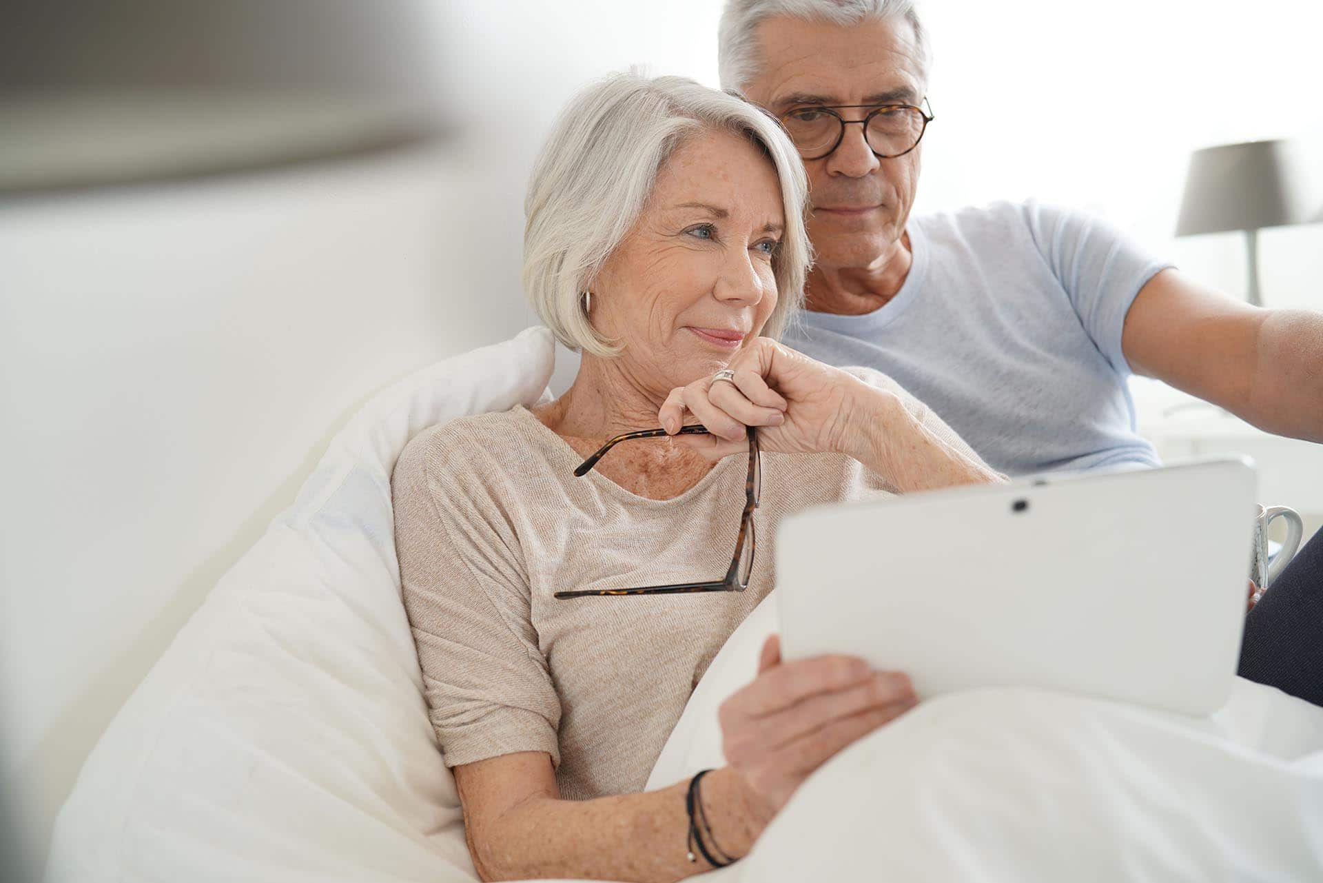 couple discussing how a non-borrowing spouse is protected in the reverse mortgage process